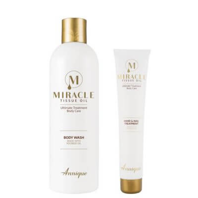 Miracle Tissue Oil Body Wash 400ml & Free Hand and Nail Lotion 50ml