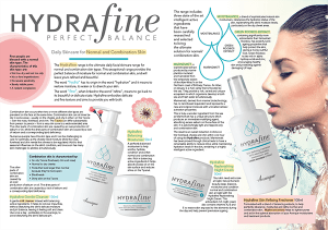 Hydrafine Normal to combination skin information