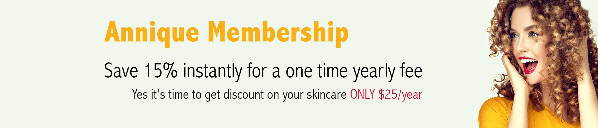 Anniqe membership banner